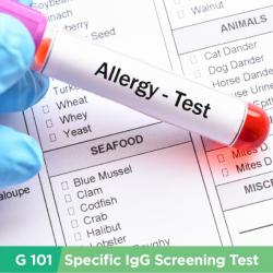 Allergy IgG Test (G101 items)