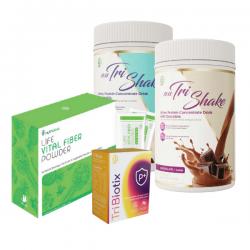 90-Day Weight Loss Meal Plan [Nutrishake 18 Bottles + Tribiotix 6 boxes + Fiber 3 boxes]